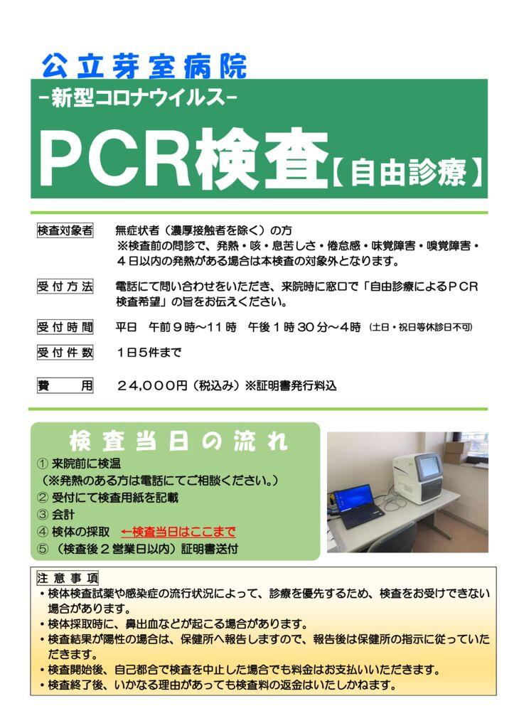 午後再開PCR検査チラシ (白抜き)のサムネイル